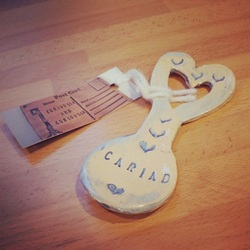 'Cariad' Ceramic Lovespoon - Handmade in Wales