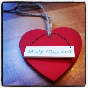 Hanging Christmas Heart Decoration