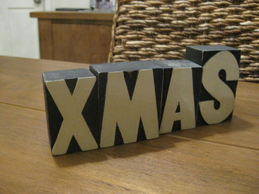 XMAS - Rustic Wooden Blocks