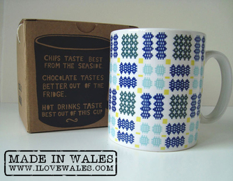 Welsh Blanket Mug - Made in Wales