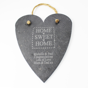 Home Sweet Home Large Slate Heart